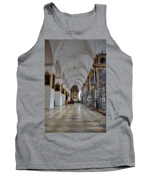 Tank Top featuring the photograph Hallway Of A Church Munich Germany by Imran Ahmed