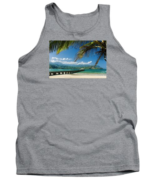 Hanalei Pier And Beach Tank Top