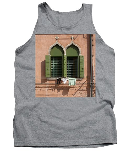 Hanging Out To Dry Tank Top by Ron Harpham
