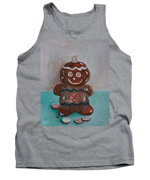 Happy Gingerbread Man Tank Top
