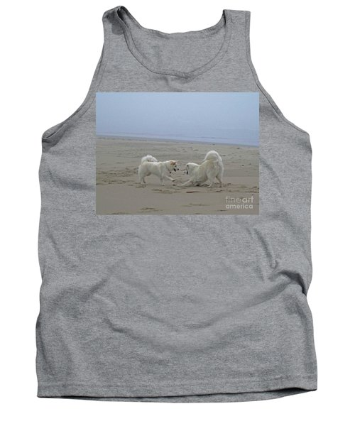 Happy Girls Beach Side Tank Top by Fiona Kennard
