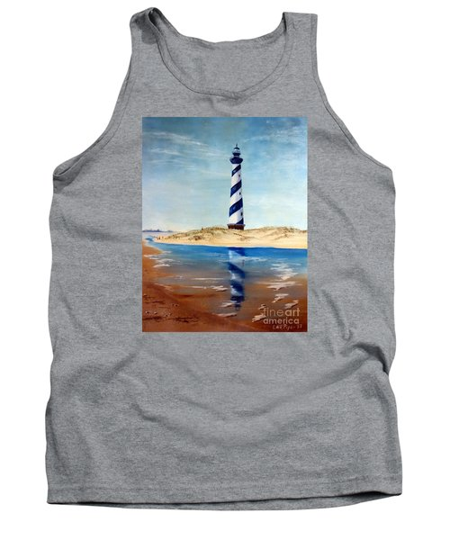Hatteras Lighthouse Tank Top by Lee Piper