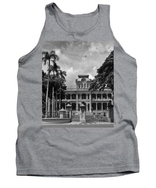 Hawaii's Iolani Palace In Bw Tank Top by Craig Wood