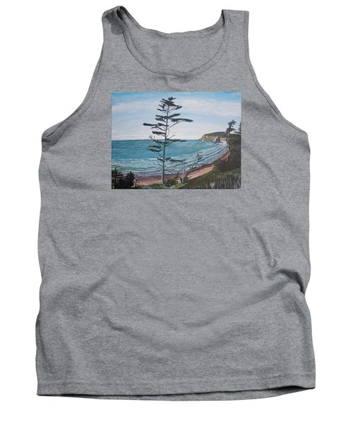 Hay Stack Rock From The South On The Oregon Coast Tank Top by Ian Donley