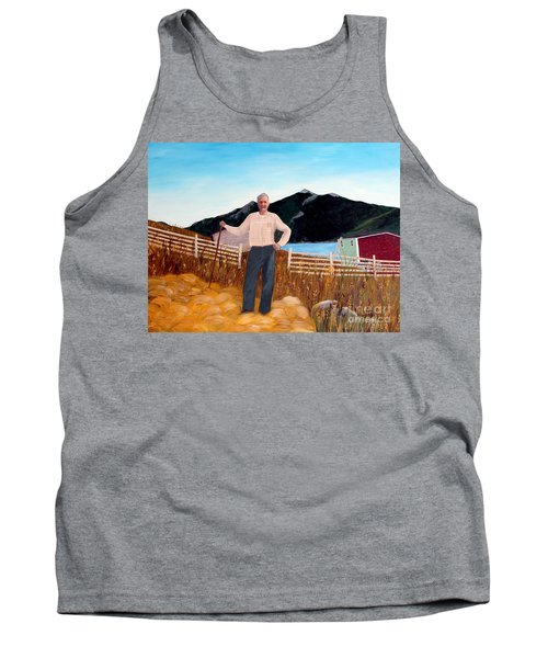 Haymaker With Pitchfork  Tank Top