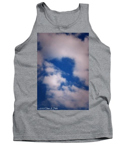 Tank Top featuring the photograph Heart In The Clouds by Tara Potts