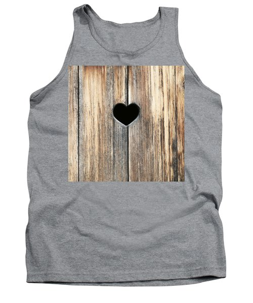 Tank Top featuring the photograph Heart In Wood by Brooke T Ryan