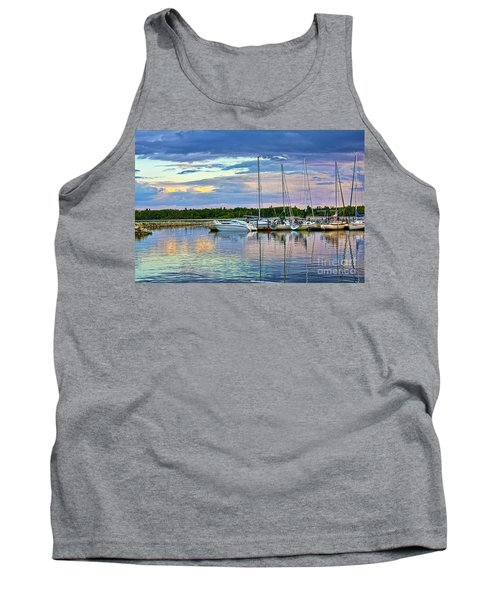 Tank Top featuring the photograph Hecla Island Boats II by Teresa Zieba