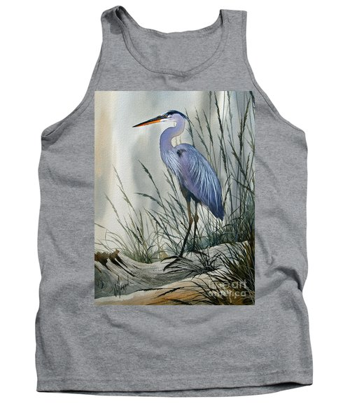 Herons Sheltered Retreat Tank Top by James Williamson