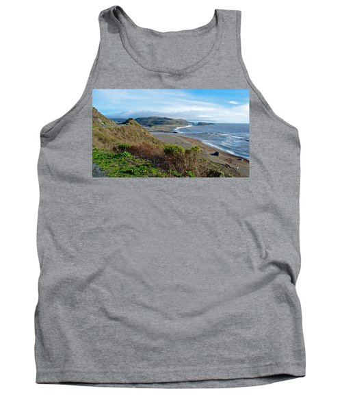Highway 1 Near Outlet Of Russian River Into Pacific Ocean Near Jenner-ca  Tank Top