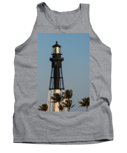 Hillsboro Inlet Lighthouse In The Evening Tank Top