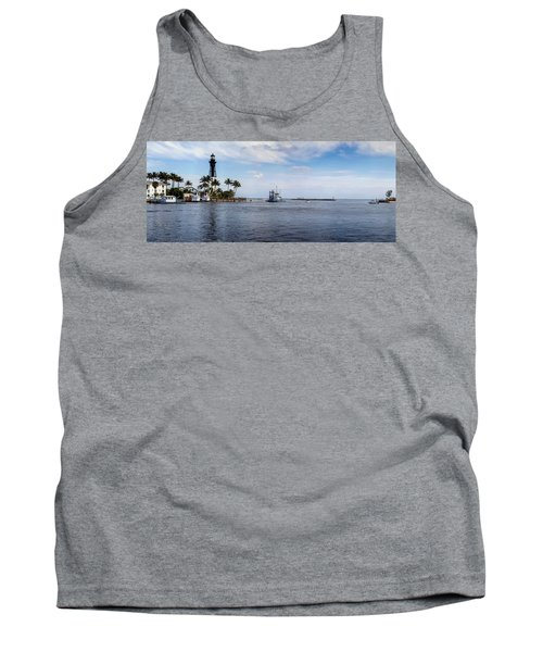 Hillsboro Inlet Lighthouse Panorama Tank Top