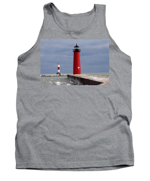 Tank Top featuring the photograph Historic Pierhead Lighthouse by Kay Novy