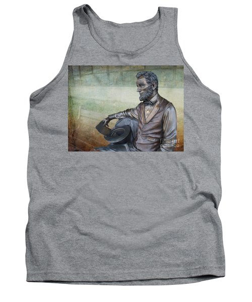 History - Abraham Lincoln Contemplates -  Luther Fine Art Tank Top by Luther Fine Art