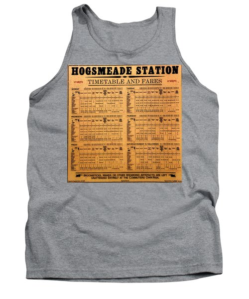 Hogsmeade Station Timetable Tank Top