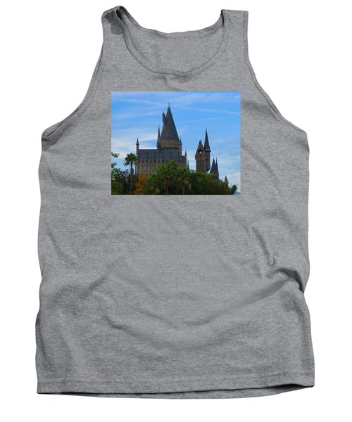 Hogwarts Castle With Towers Tank Top by Kathy Long