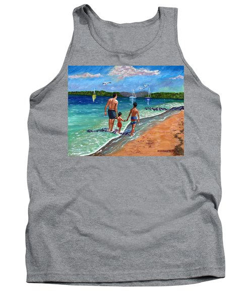Tank Top featuring the painting Holding Hands by Laura Forde