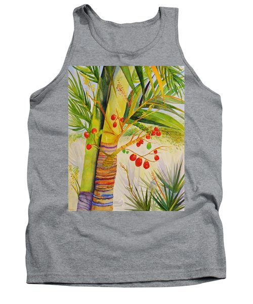Holiday Palm Tank Top