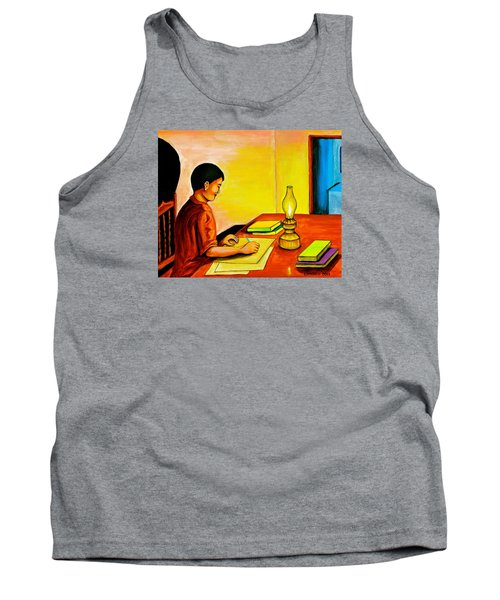 Tank Top featuring the painting Homework by Cyril Maza