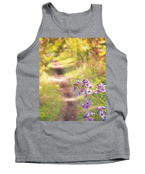 Tank Top featuring the photograph Honey Bee On Purple Aster by Brooke T Ryan