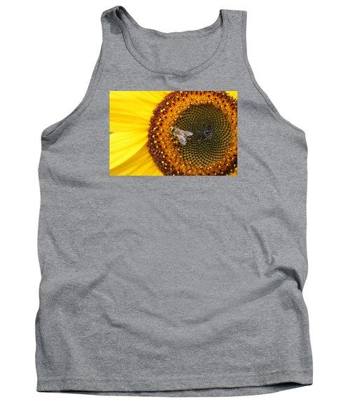 Honeybee On Sunflower Tank Top by Lucinda VanVleck
