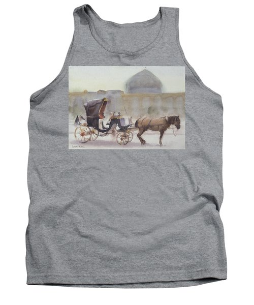 Horse And Carriage, Naghshe Jahan Square, Isfahan Wc On Paper Tank Top