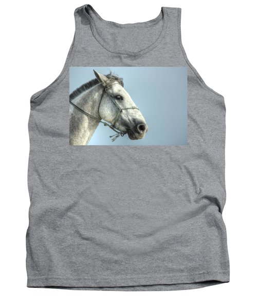 Tank Top featuring the photograph Horse Head-shot by Eti Reid