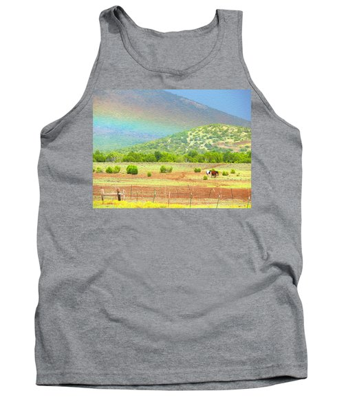 Horses At The End Of The Rainbow Tank Top