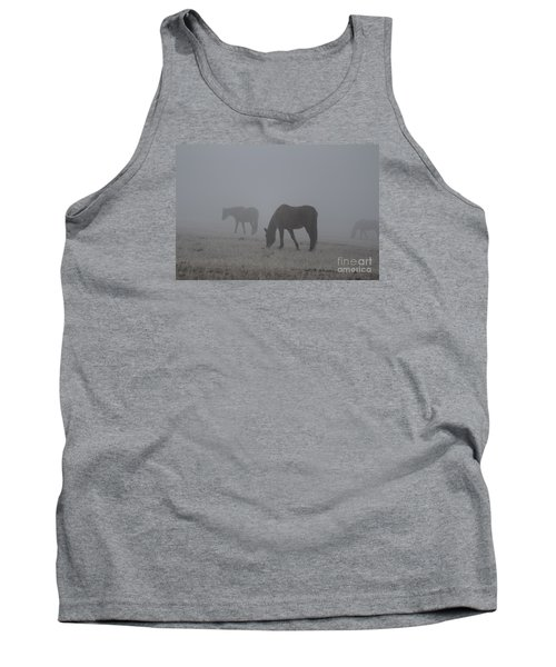 Horses In The Morning Fog Tank Top