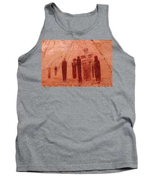 Horseshoe Canyon Pictographs Tank Top by Alan Vance Ley