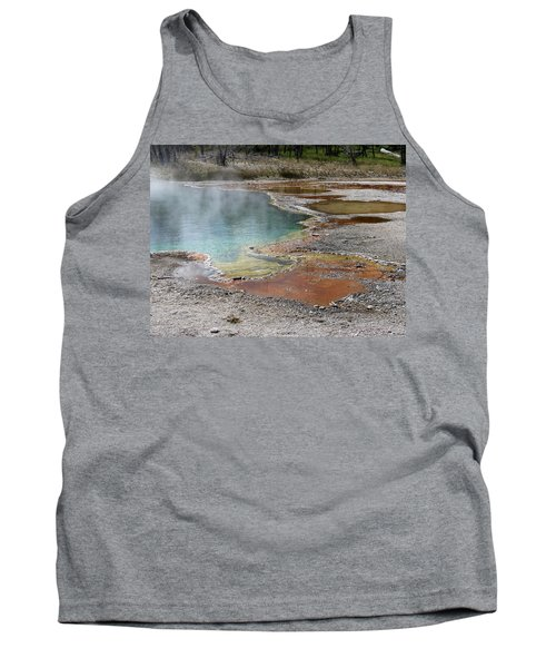 Hot Water At Yellowstone Tank Top by Laurel Powell