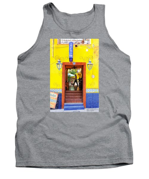 Tank Top featuring the photograph Hotel Estancia - Ajijic - Mexico by David Perry Lawrence