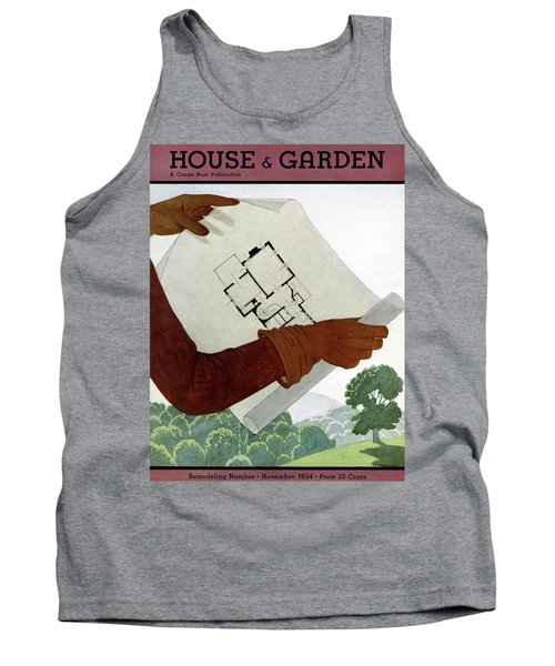 House & Garden Cover Illustration Of A Pair Tank Top