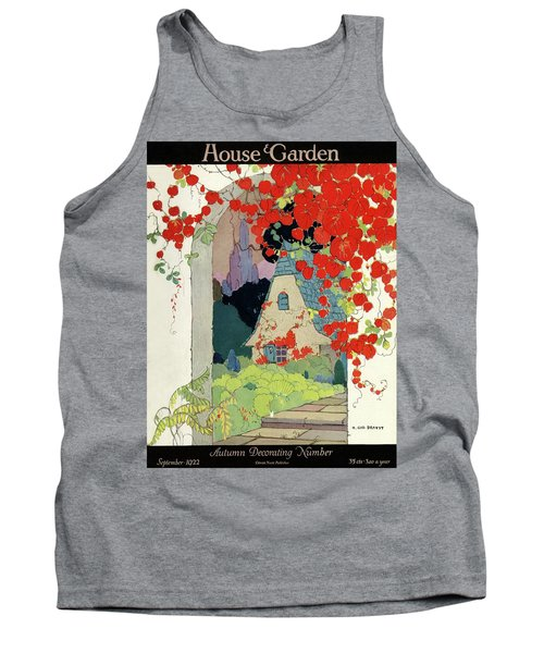 House And Garden Autumn Decorating Number Tank Top