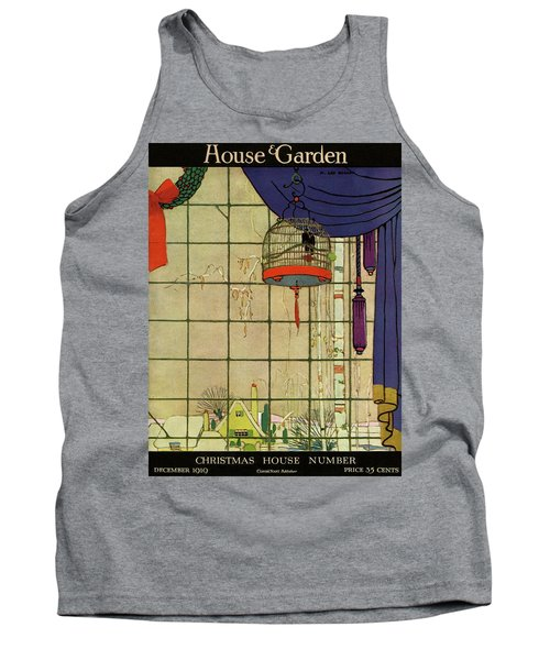 House And Garden Christmas House Number Cover Tank Top