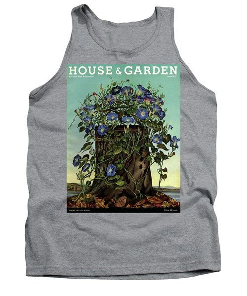 House And Garden Cover Featuring Flowers Growing Tank Top