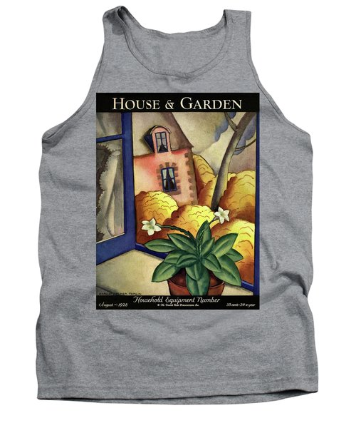 House And Garden Household Equipment Number Cover Tank Top