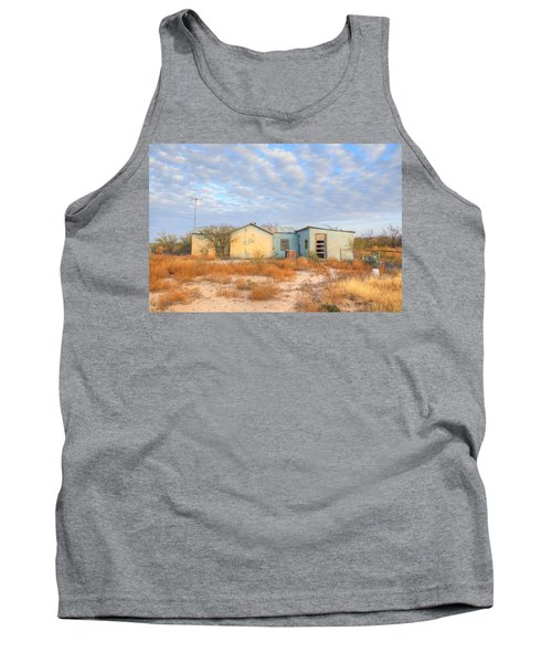Tank Top featuring the photograph House In Ft. Stockton Iv by Lanita Williams