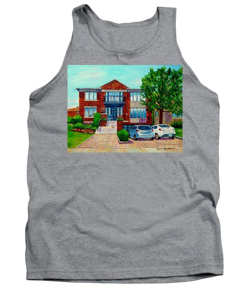House Portrait-house  Art-commissioned  Montreal Paintings-carole Spandau Tank Top