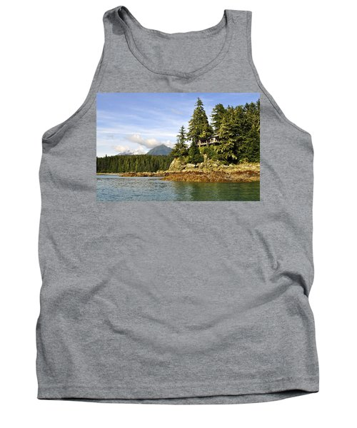 Tank Top featuring the photograph House Upon A Rock by Cathy Mahnke