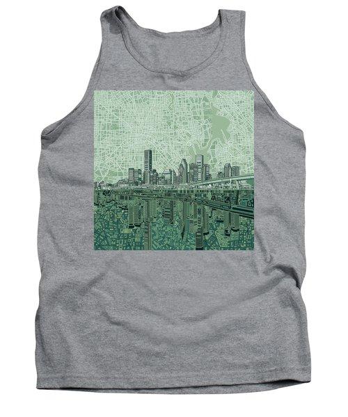 Houston Skyline Abstract 2 Tank Top