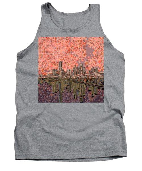 Houston Skyline Abstract 5 Tank Top
