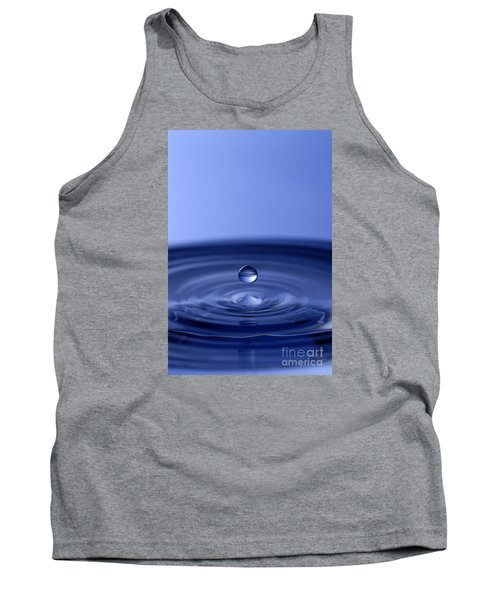 Hovering Blue Water Drop Tank Top by Anthony Sacco