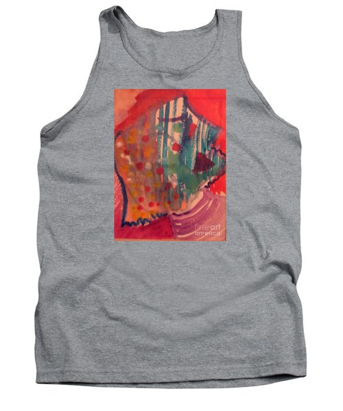 How Much I Loved You Original Contemporary Modern Abstract Art Painting Tank Top by RjFxx at beautifullart com