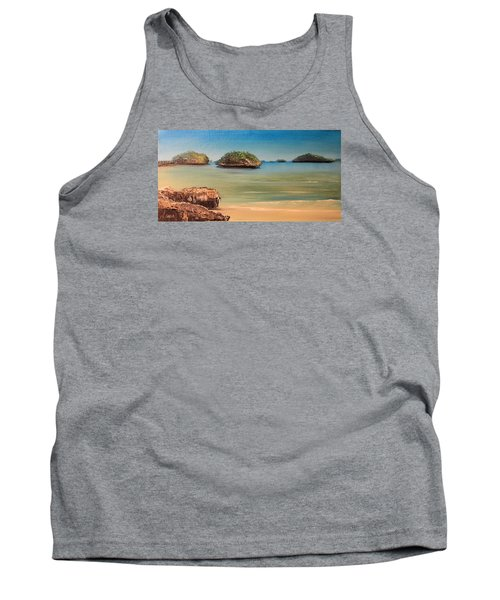 Hundred Islands In Philippines Tank Top by Remegio Onia