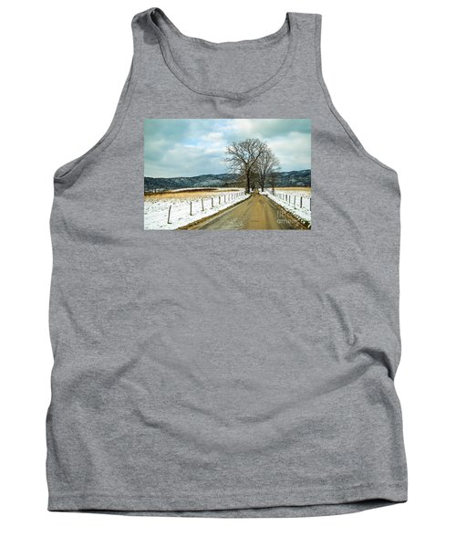 Hyatt Lane In Snow Tank Top by Debbie Green