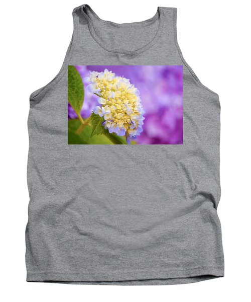 Hydrangea On Purple Tank Top