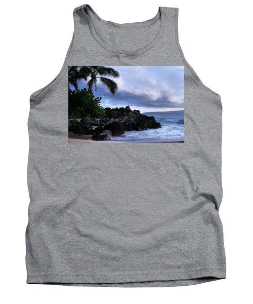 I Ke Kai Hawanawana Eia Kuu Lei Aloha - Paako Beach Maui Hawaii Tank Top by Sharon Mau