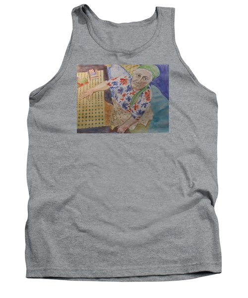 Tank Top featuring the painting I Know I'm Right  by Esther Newman-Cohen
