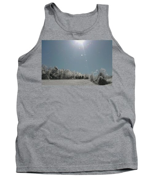 Tank Top featuring the photograph Ice Kissed by Ellen Levinson